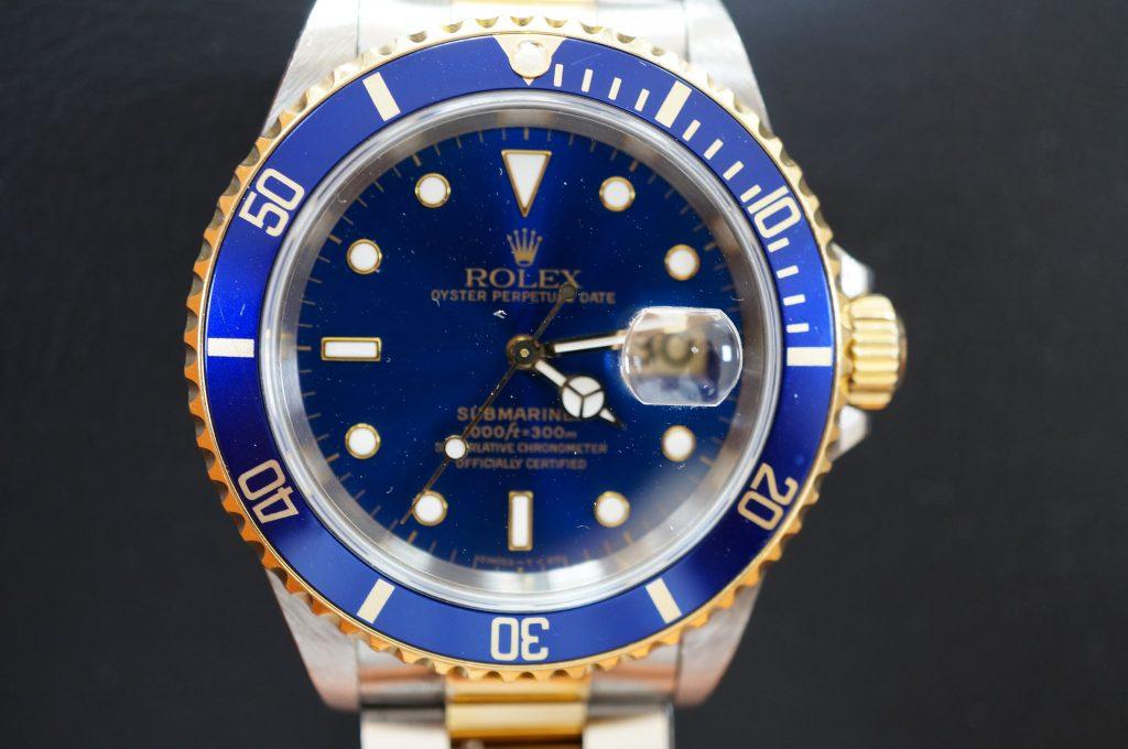 No.1126  ROLEX (ロレックス 青サブマリーナ ) 自動巻き腕時計を修理しました