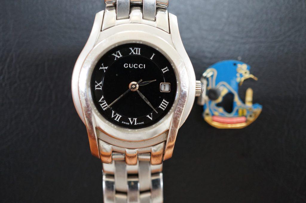 No.1123  GUCCI (グッチ) クオーツ式腕時計を修理しました