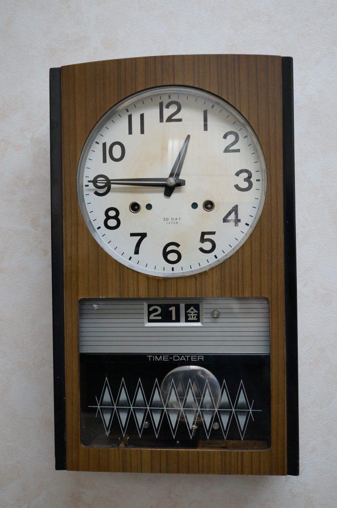 No.1172  SEIKO (セイコー)  ゼンマイ式 掛け時計を修理しました