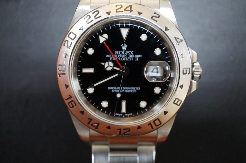No.1178  ROLEX (ロレックス エクスクローラ2) 自動巻き腕時計を修理しました