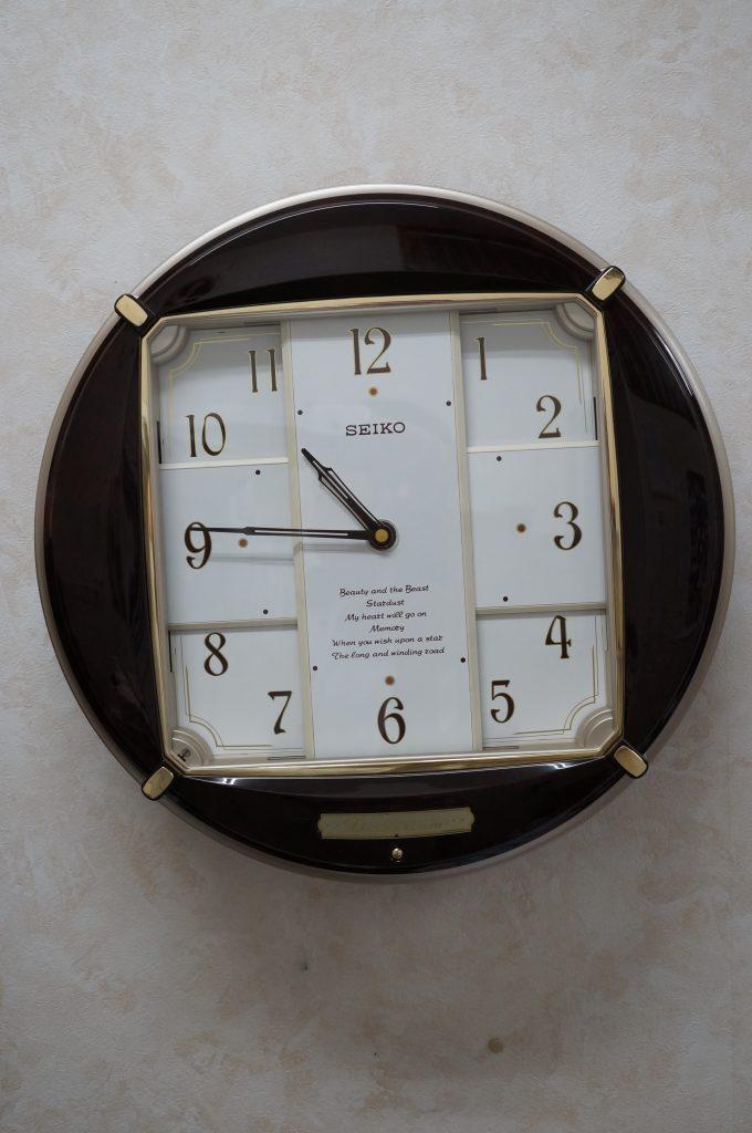 No.1234  SEIKO (セイコー) クォーツ式 からくり掛け時計を修理しました