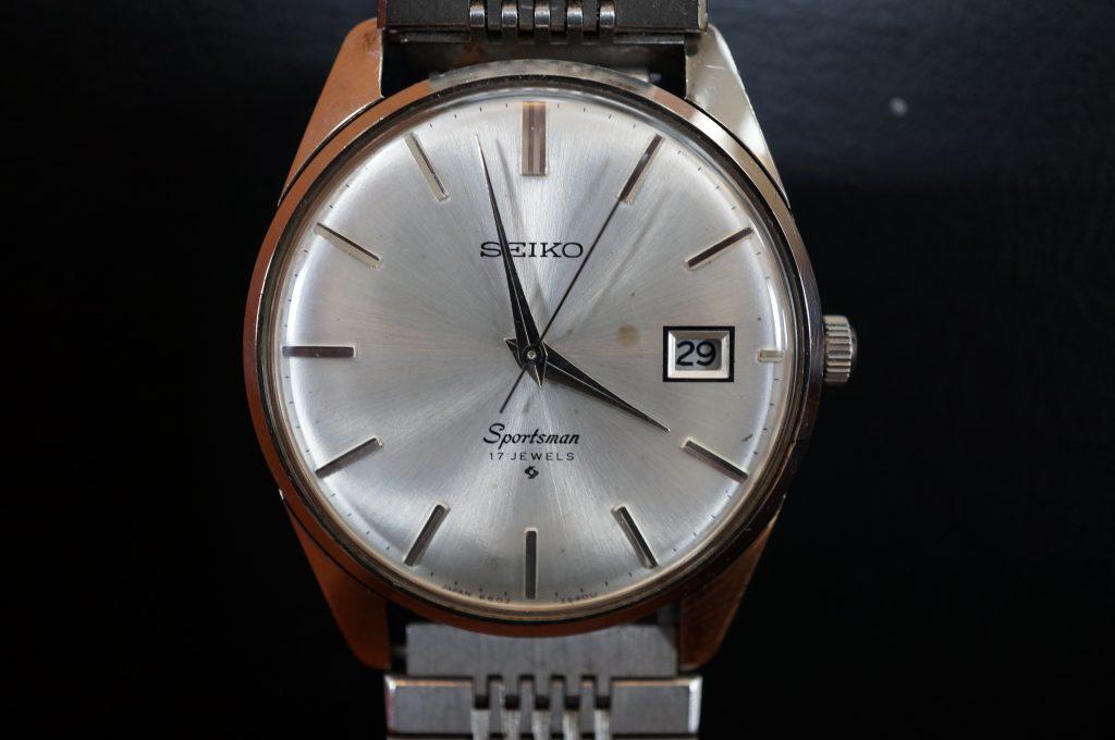 No.1383  SEIKO  (スポーツマン ) 手巻き式 腕時計を修理しました