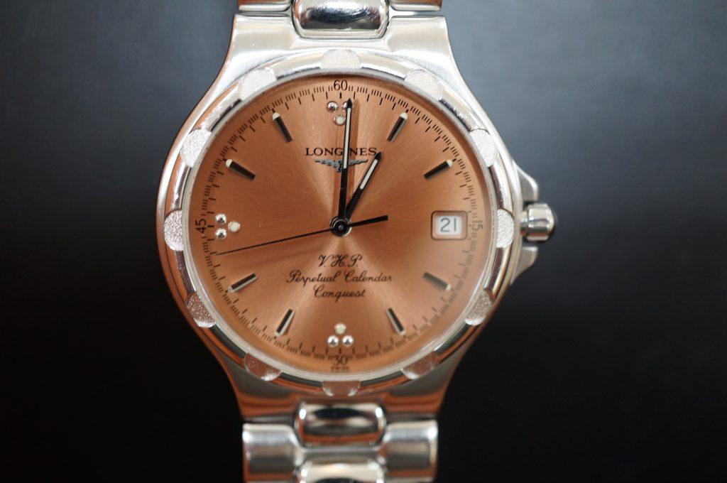 No.1427  LONGINES V.H.P (ロンジン ) クォーツ式 腕時計を修理しました