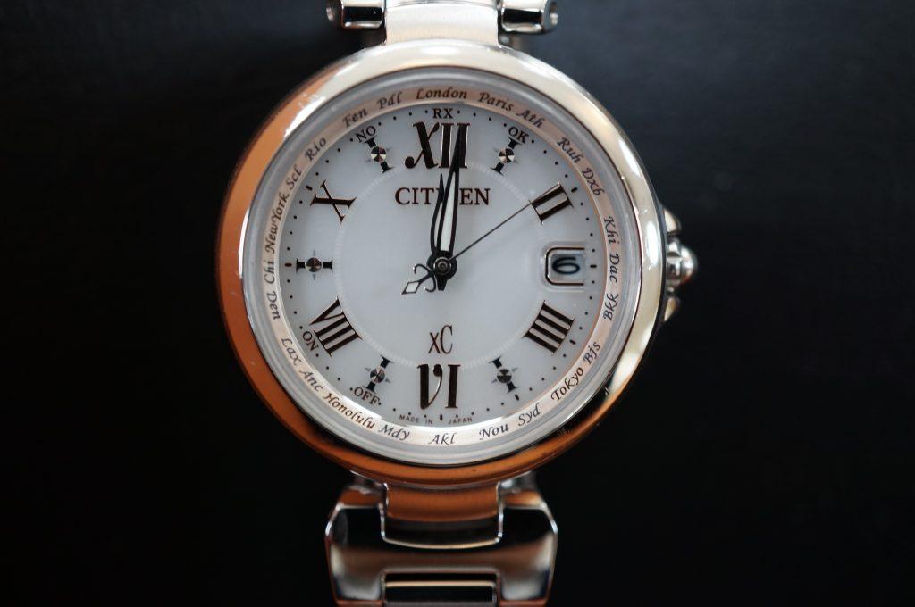 No.1460  CITIZEN  XC(シチズン クロスシー ) ソーラー電波式 腕時計を修理しました
