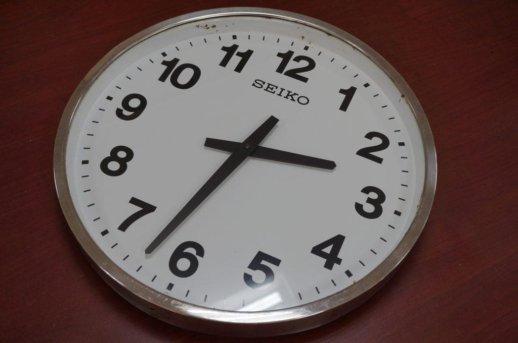 No.1470  SEIKO(セイコー) 特大防水仕様  掛け時計時計を修理しました