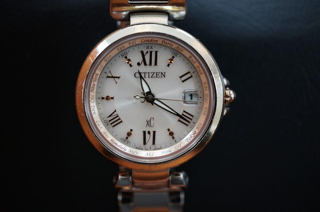 No.1488  CITIZEN  XC(シチズン クロスシー ) ソーラー電波式 腕時計を修理しました