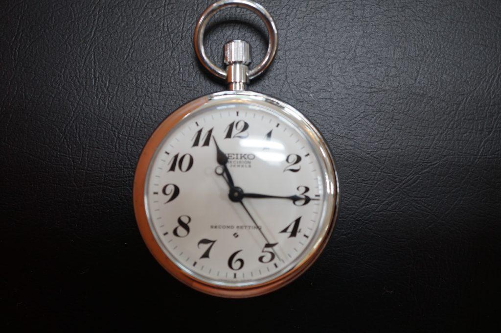 No.1583  SEIKO (セイコー) 手巻き式懐中時計を修理しました