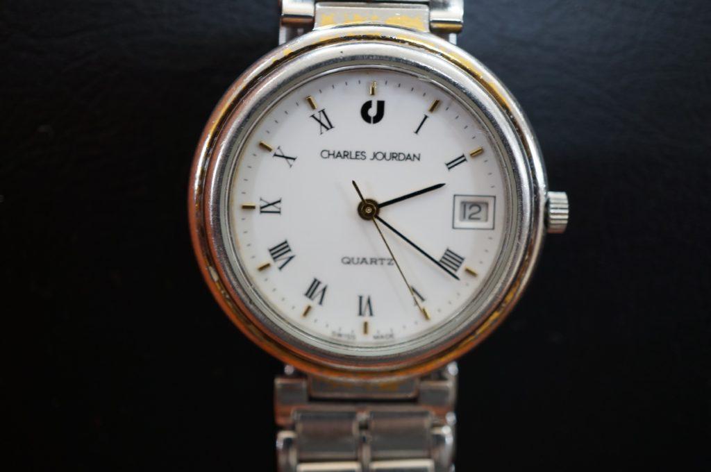 No.1609  CHARLES JOURDAN (シャルル・ジョルダン) クォーツ式 腕時計を修理しました