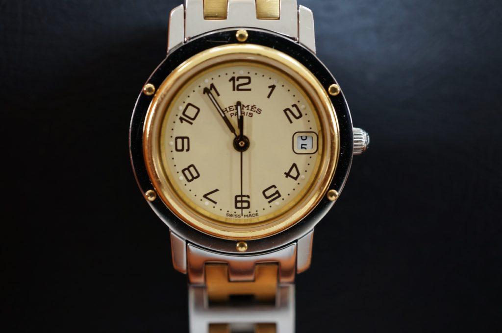 No.1648  HERMES (エルメス) クォーツ式 腕時計を修理しました