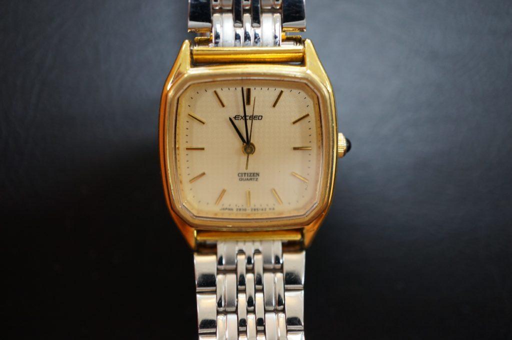 No.1863  CITIZEN  (シチズン エクシード ) クォーツ式 腕時計を修理しました