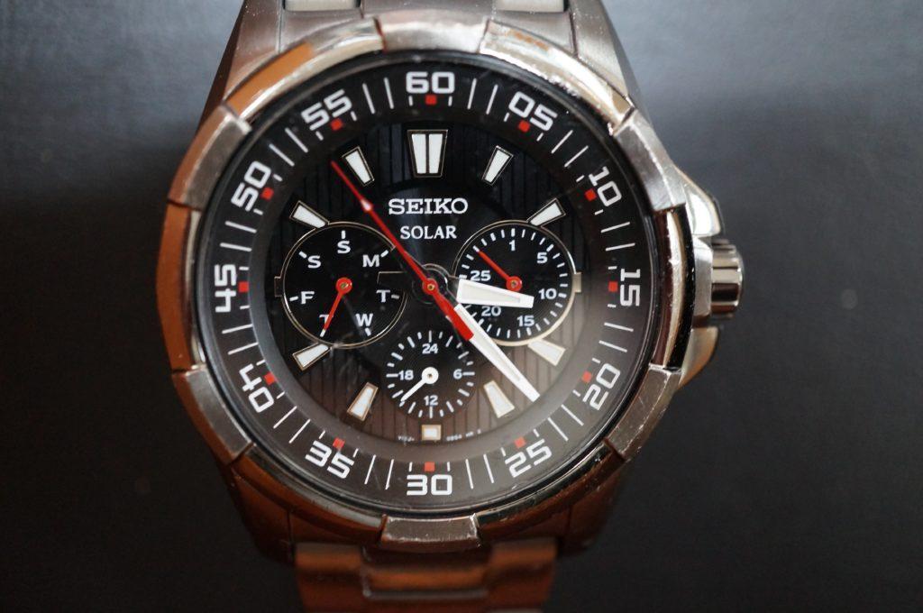 No.1882  SEIKO  (セイコー ) ソーラー式 腕時計を修理しました