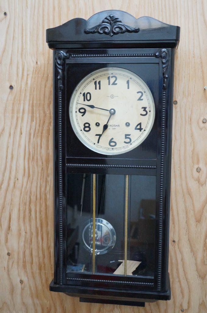 No.1880  SEIKO (セイコー)  ゼンマイ式 掛け時計を修理しました