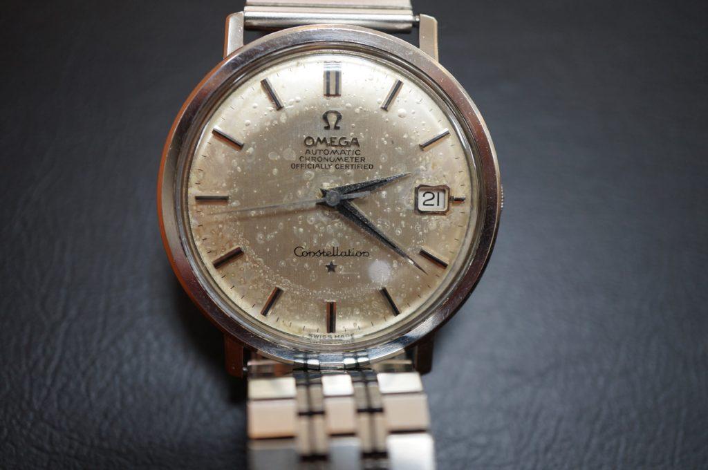 No.1909  OMEGA constellation (オメガ コンステーション) 機械式腕時計を修理しました