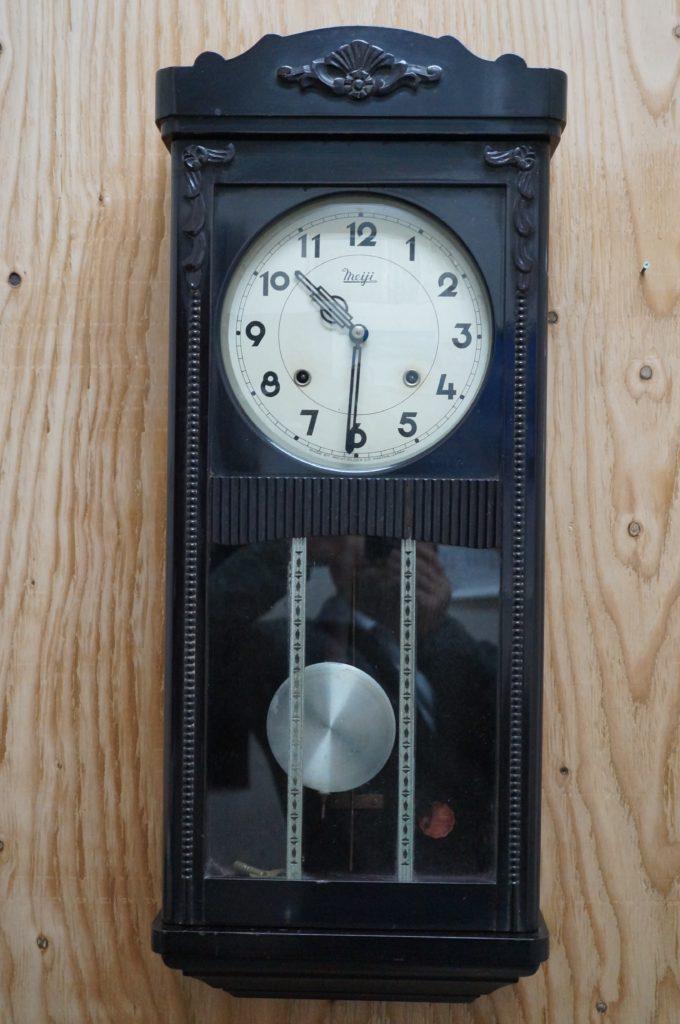 No.1900  アンティーク ゼンマイ式 掛け時計を修理しました
