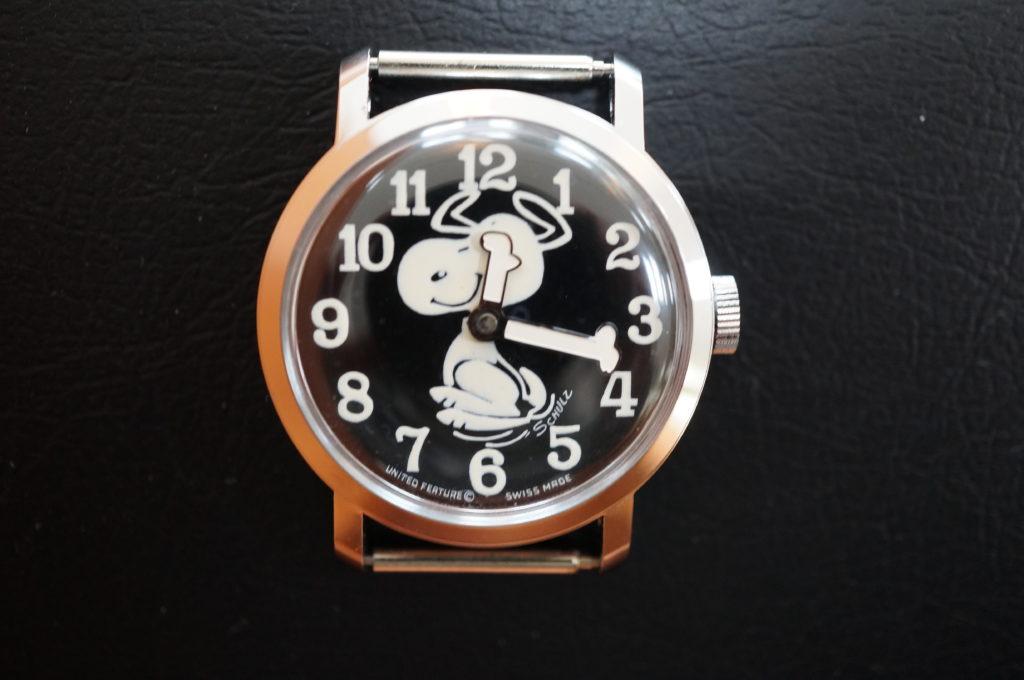 No.2067  スヌーピー 手巻き式 腕時計を修理しました