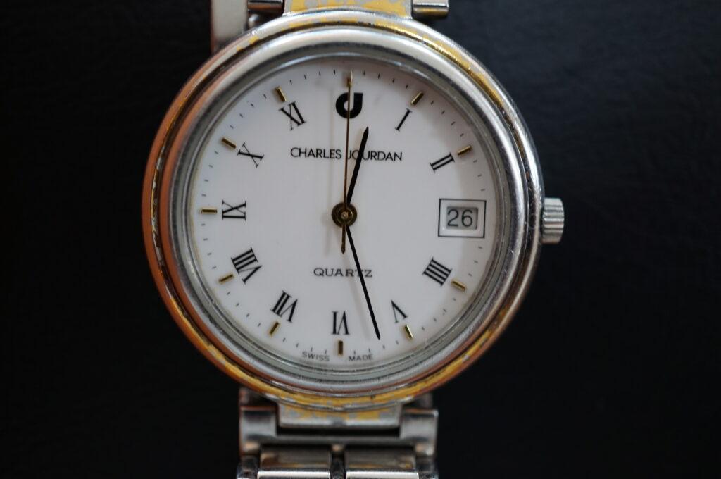 No.2350  CHARLES JOURDAN クォーツ式腕時計を修理しました
