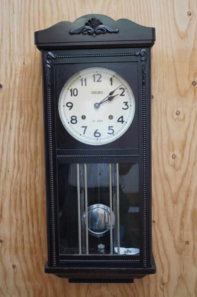 No.2355  アイチ アンティーク ゼンマイ式 掛け時計を修理しました