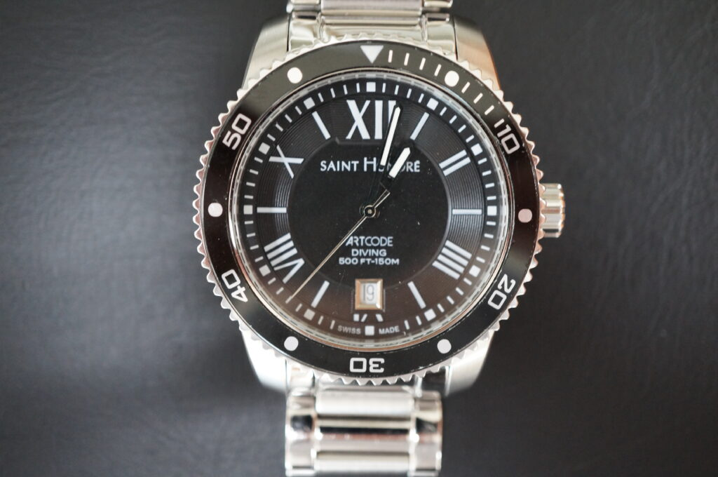 No.2390  SAINT HONORE クォーツ式 腕時計を修理しました