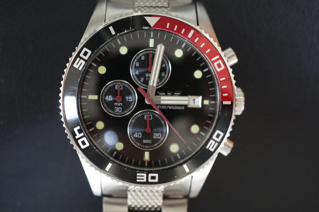 No.2398  EMPORIO ARMANI  (アルマーニ ) クォーツ式 腕時計を修理しました