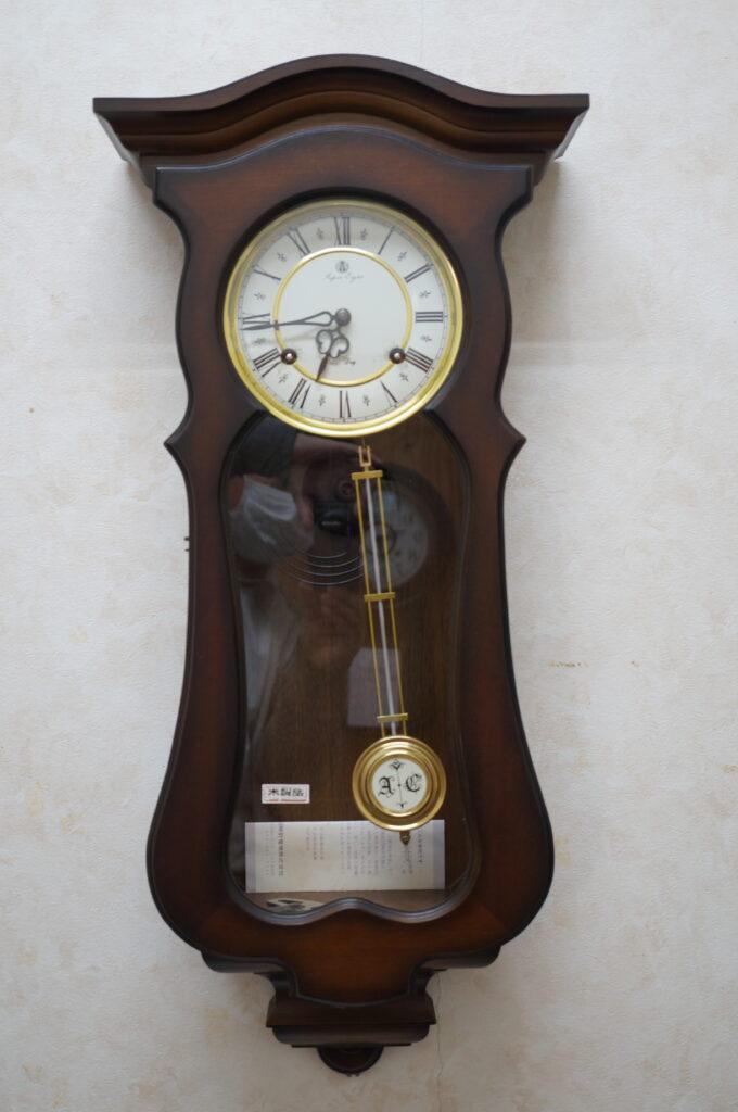 No.2431  アイチ アンティーク ゼンマイ式 掛け時計を修理しました