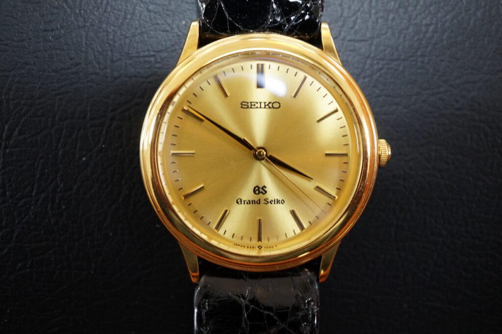 No.2437  SEIKO GS  K18(グランドセイコー ) 自動巻き 腕時計を修理しました