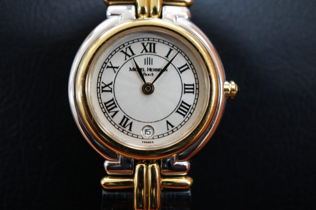 No.2506  MICHEL HERBELIN(ミッシェル・エルブラン)クオーツ式 腕時計を修理しました
