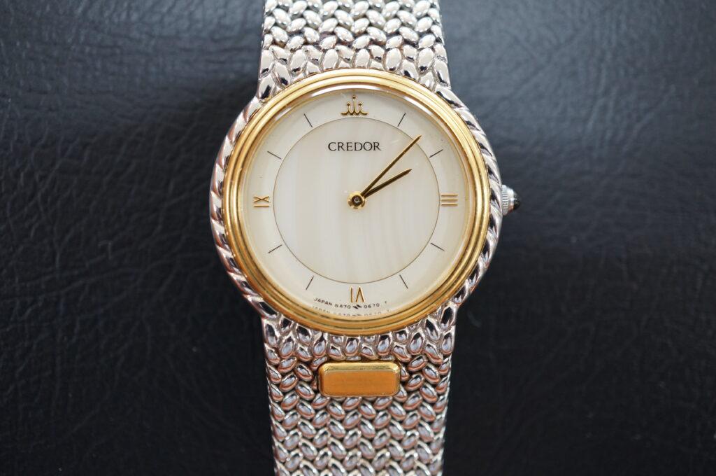 No.2613  CREDOR  (クレドール ) クオーツ式 腕時計を修理しました