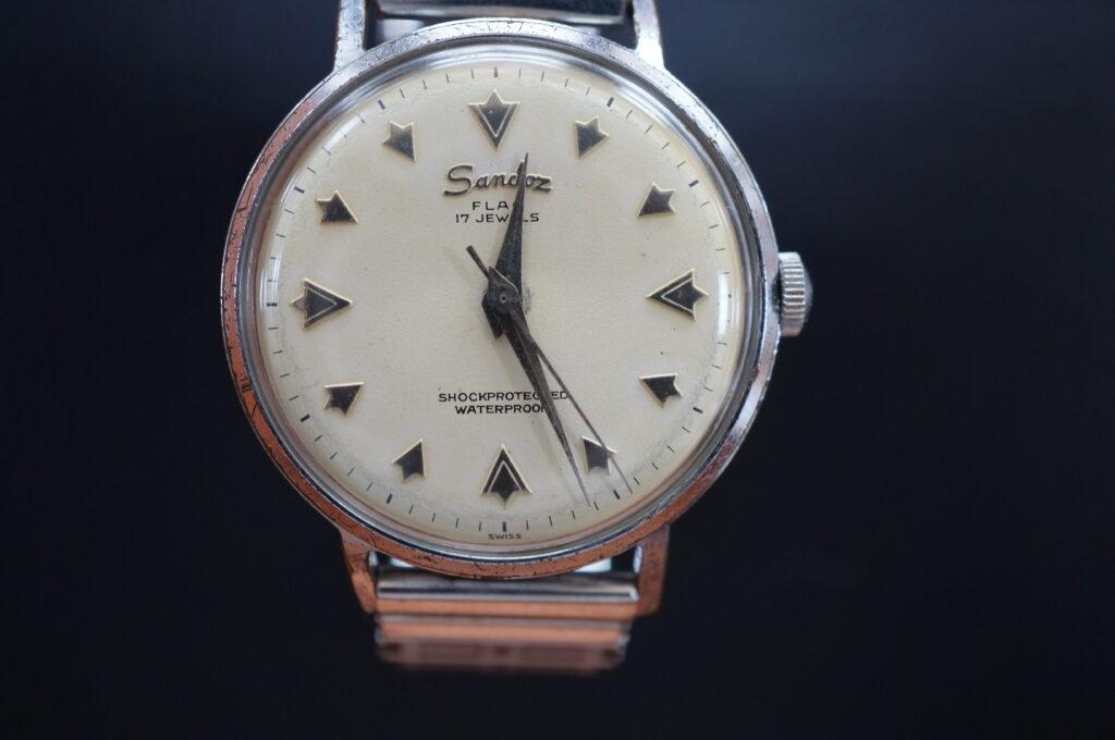 No.2681  Sands flag  手巻式 腕時計を修理しました